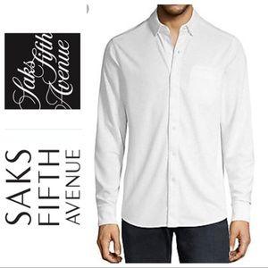 NEW SAKS FIFTH Avenue Men DRESS SHIRT Button Down